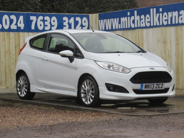USED 2013 13 FORD FIESTA 1.0 ZETEC S 3d 124 BHP LOVELY CAR