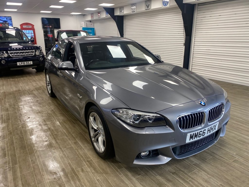 USED 2016 66 BMW 5 SERIES 2.0 520D M SPORT 4d 188 BHP FREE HOME DELIVERY CONTACTLESS CALL US ON 07785902621 AFTERHOURS