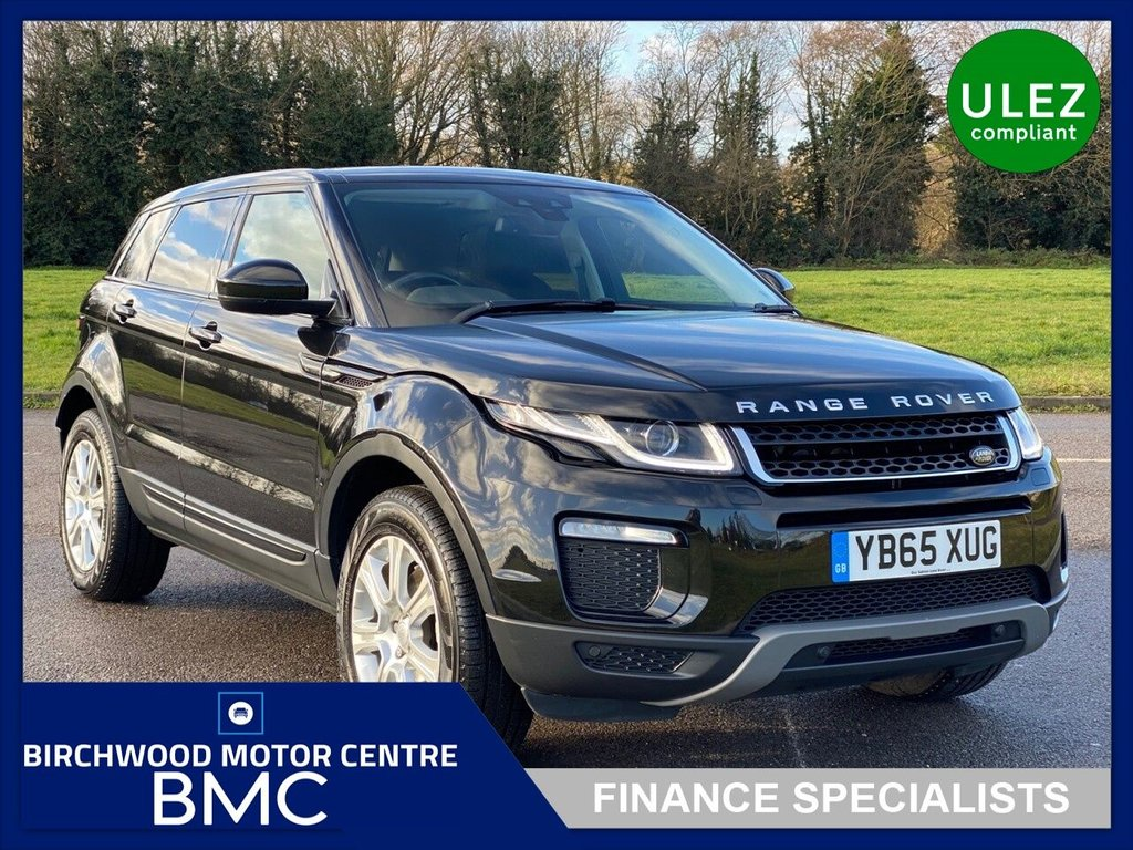 """USED 2016 65 LAND ROVER RANGE ROVER EVOQUE 2.0 TD4 SE TECH 5d 177 BHP.ULEZ COMPLIANT, AUTOMATIC, 53,000m With FSH. Stunning Evoque Presented In Santorini Black With Full Leather Trim. High Specification Including PANORAMIC ROOF, SAT NAV, CRUISE CONTROL, ELECTRIC/HEATED SEATS, 18"""" AS NEW ALLOYS With 4x Matching Pirelli Tyres, IMMACULATE THROUGHOUT"""