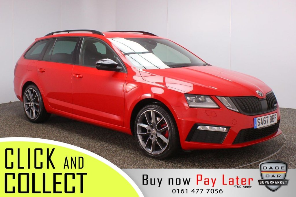USED 2017 67 SKODA OCTAVIA 2.0 VRS TDI 5DR 1 OWNER 181 BHP + SAT NAV + FULL SERVICE HISTORY FULL SERVICE HISTORY + HEATED HALF LEATHER SEATS + SATELLITE NAVIGATION + PARKING SENSOR + BLUETOOTH + CRUISE CONTROL + CLIMATE CONTROL + MULTI FUNCTION WHEEL + LED HEADLIGHTS + PRIVACY GLASS + DAB RADIO + AUX/USB/SD PORTS + ELECTRIC WINDOWS + ELECTRIC/HEATED DOOR MIRRORS + ALLOY WHEELS