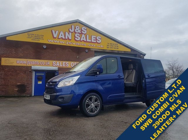 USED 2015 15 FORD TRANSIT CUSTOM 2.2 290 LIMITED LR DCB COMBI ONLY 29K MLS  SUPER LOOKING COMBI LOW MLS BIG SPEC