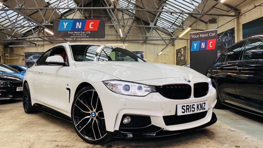 USED 2015 15 BMW 4 SERIES 2.0 420d M Sport 2dr PERFORMANCEKIT+20S+REDLEATHER!