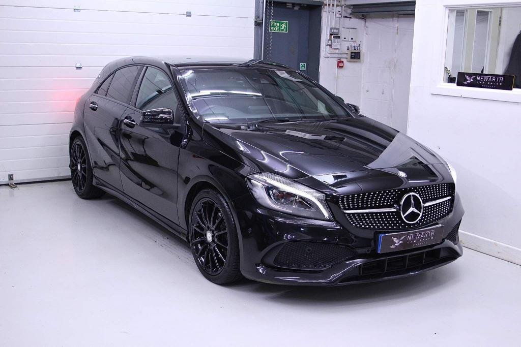 USED 2016 66 MERCEDES-BENZ A-CLASS 1.5 A180d AMG Line (Premium Plus) 7G-DCT (s/s) 5dr AMG NIGHT PACKAGE   PAN ROOF