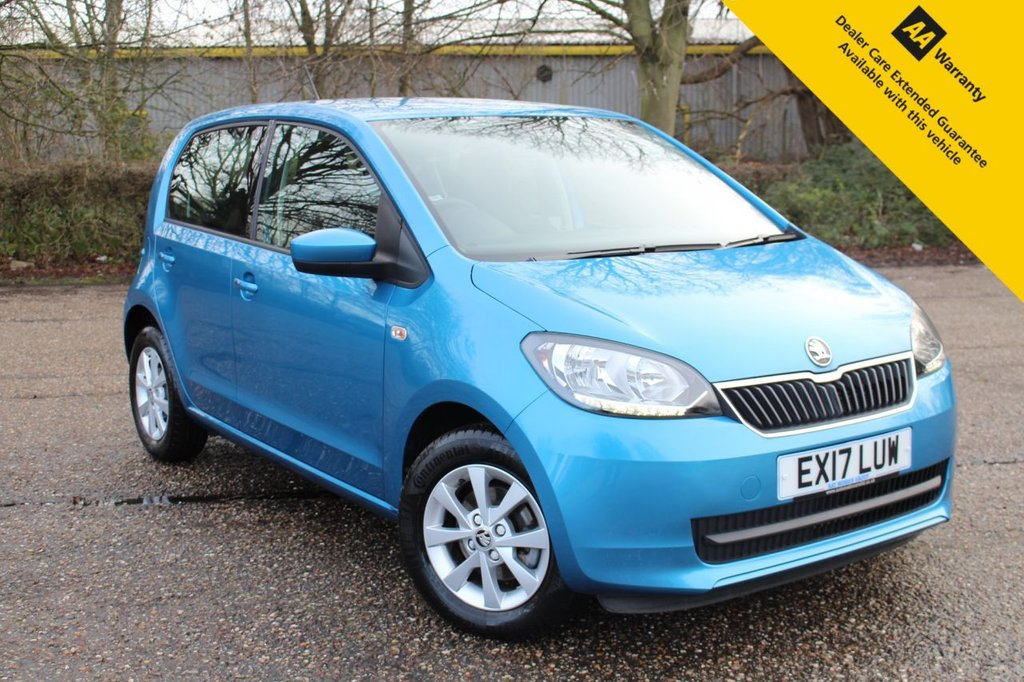 USED 2017 17 SKODA CITIGO 1.0 SE MPI ASG 5d 59 BHP ** SUPERB LOW MILEAGE AUTOMATIC ** FULL SERVICE HISTORY ** BRAND NEW MOT ** BLUETOOTH ** AIR CONDITIONING ** SMART PHONE HOLDER ** ELECTRIC WINDOWS ** £0 ROAD TAX - 65+ MPG ** ULEZ CHARGE EXEMPT ** CLICK & COLLECT + NATIONWIDE DELIVERY AVAILABLE ** BUY ONLINE IN CONFIDENCE FROM A MULTI AWARD WINNING 5* RATED DEALER **