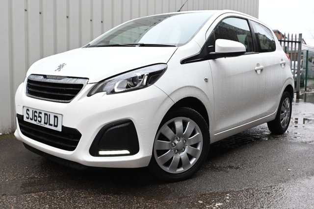 USED 2015 65 PEUGEOT 108 1.0 ACTIVE 5d 68 BHP Low Tax and Insurance