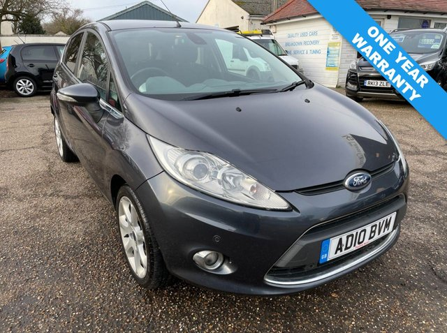 USED 2010 10 FORD FIESTA 1.6 TITANIUM TDCI 5d 94 BHP ONE  YEAR WARRANTY INCLUDED / VOICE COMMS / USB / BLUETOOTH / CRUISE CONTROL