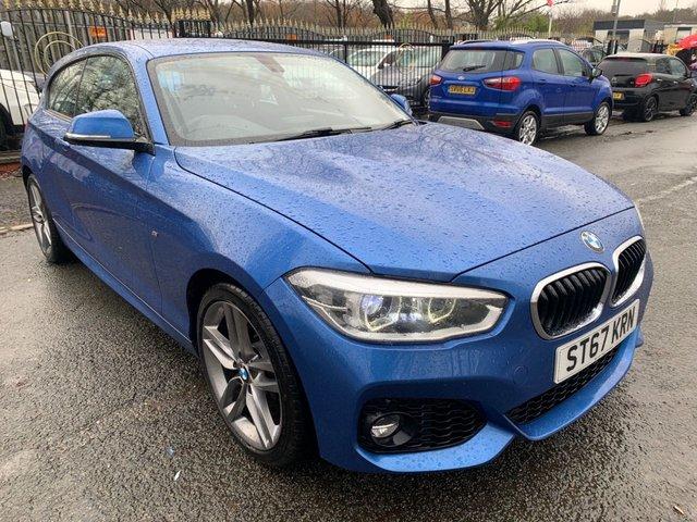 """USED 2017 67 BMW 1 SERIES 1.5 116D M SPORT 3d 114 BHP 2 KEYS+1 OWNERS+FSH+CLIMATE+NAVIGATION+18""""ALLOYS+BLUETOOTH+USB+MEDIA+AUX+DAB+"""