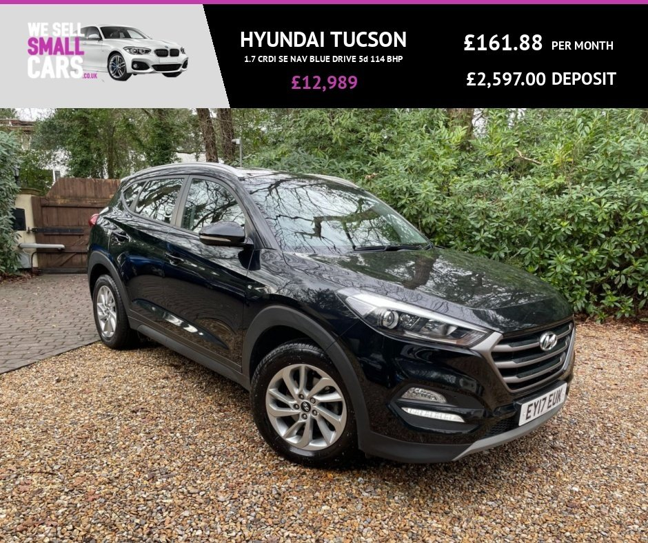 USED 2017 17 HYUNDAI TUCSON 1.7 CRDI SE NAV BLUE DRIVE 5d 114 BHP 2 OWNERS FULL SERVICE HISTORY FACTORY SAT NAV BLUETOOTH CAMERAS