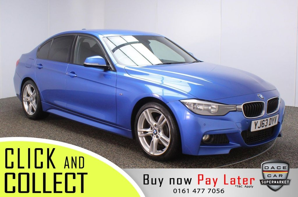 USED 2013 63 BMW 3 SERIES 2.0 320D M SPORT 4DR 181 BHP FULL SERVICE HISTORY + £30 12 MONTHS ROAD TAX + HEATED LEATHER SEATS + PARKING SENSOR + BLUETOOTH + CRUISE CONTROL + CLIMATE CONTROL + MULTI FUNCTION WHEEL + PRIVACY GLASS + DAB RADIO + AUX/USB PORTS + ELECTRIC WINDOWS + ELECTRIC MIRRORS + 18 INCH ALLOY WHEELS