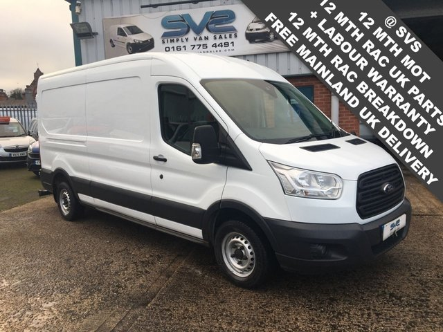 USED 2016 16 FORD TRANSIT L3 L2 LWB MEDIUM ROOF WITH A/C PARK ASSIST LOVELY CONDITION