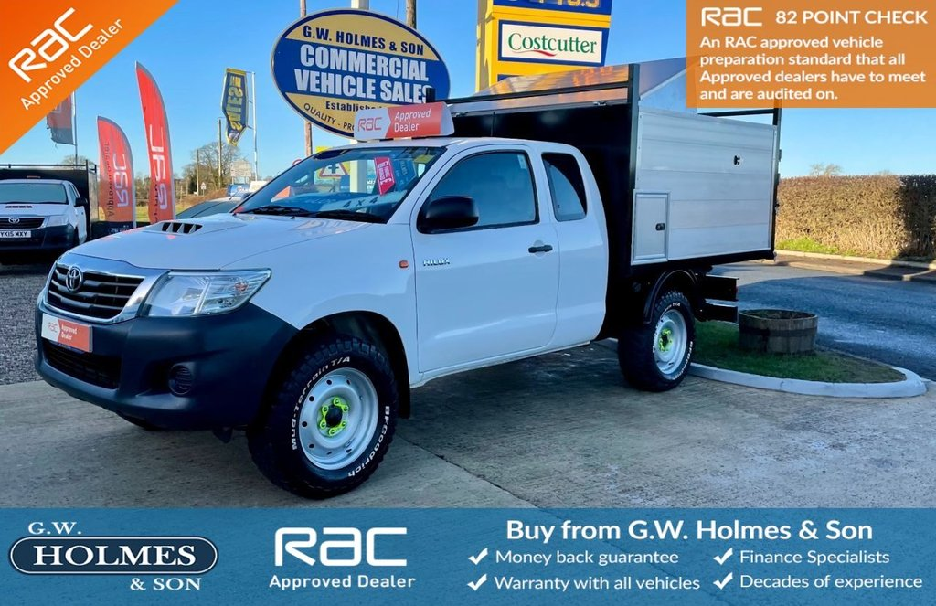 USED 2015 15 TOYOTA HI-LUX ACTIVE 4WD EXTRA CAB REAR SEATS 2.5 D-4D 142 BHP 4X4 **BRAND NEW ARB TIPPER**