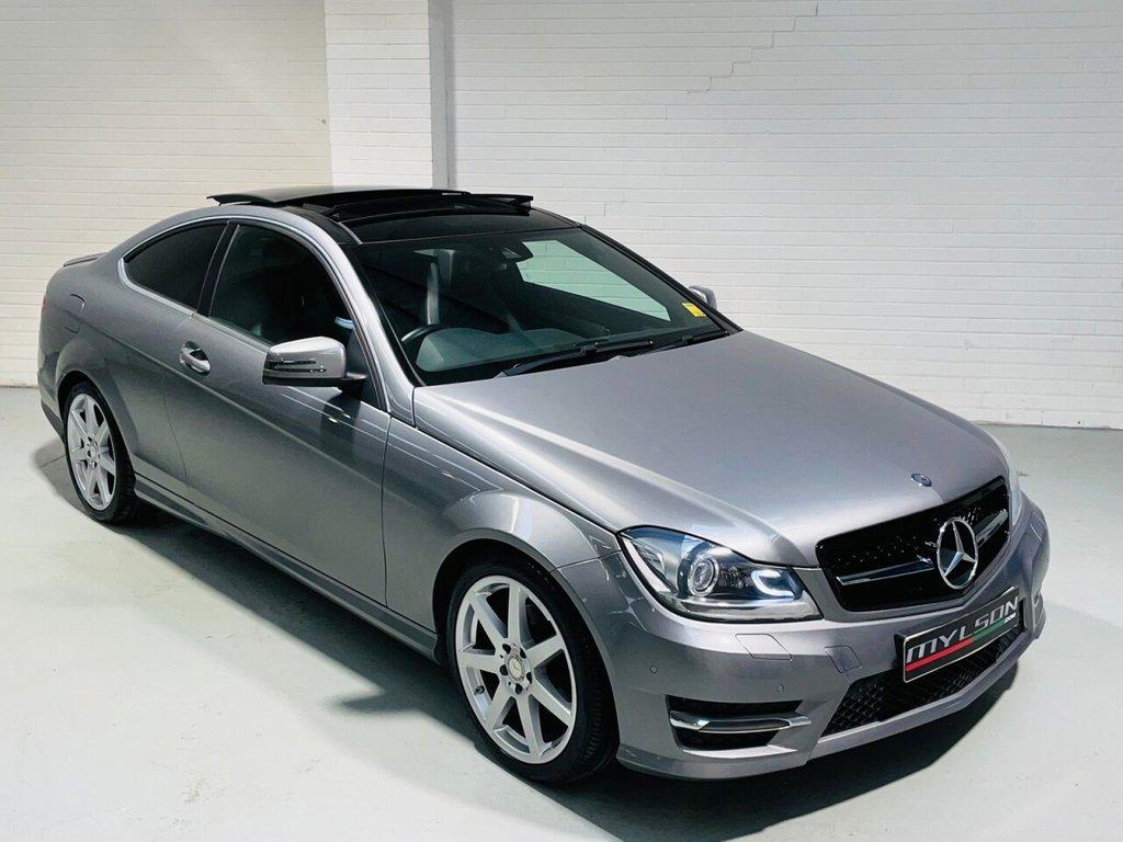 USED 2013 63 MERCEDES-BENZ C-CLASS 2.1 C220 CDI AMG SPORT EDITION PREMIUM PLUS 2d 168 BHP Premium Plus Spec, Metallic Grey/Black Interior