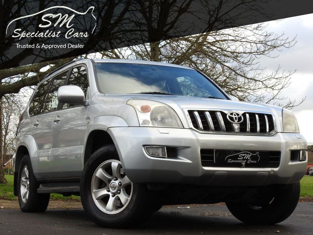 USED 2004 04 TOYOTA LAND CRUISER 3.0 LC5 8-SEATS D-4D 5d 161 BHP HUGE SPEC SAT NAV LEATHER A/C