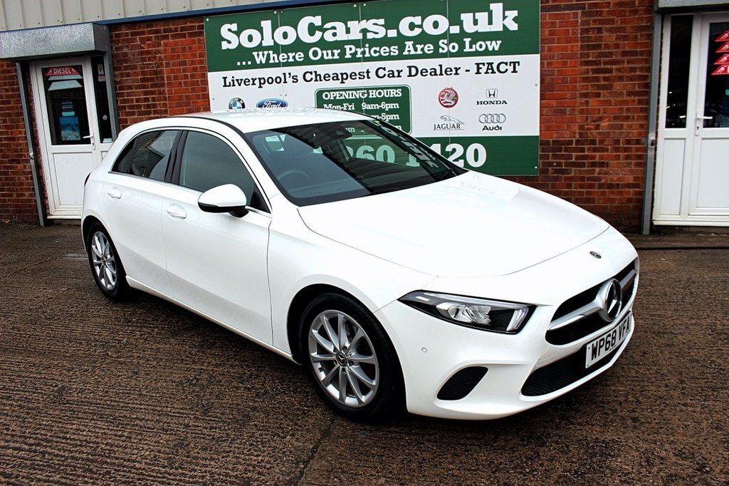USED 2018 68 MERCEDES-BENZ A-CLASS 1.5 A 180 D SPORT EXECUTIVE 5d AUTO 114 BHP +UPGRADED NAV +HEATED SEATS.