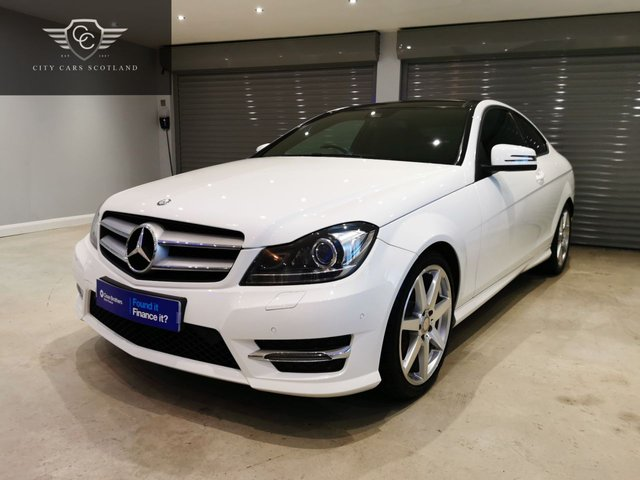 USED 2014 64 MERCEDES-BENZ C-CLASS 2.1 C250 CDI AMG SPORT EDITION PREMIUM PLUS 2d 202 BHP GLASS PANORAMIC ROOF + HEATED SEATS + SATELLITE NAVIGATION
