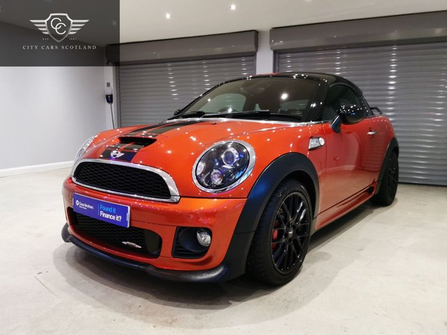 USED 2012 62 MINI COUPE 1.6 JOHN COOPER WORKS 2d 208 BHP CHILI PACK + LOW MILES + HIGH LEVEL SPOILER