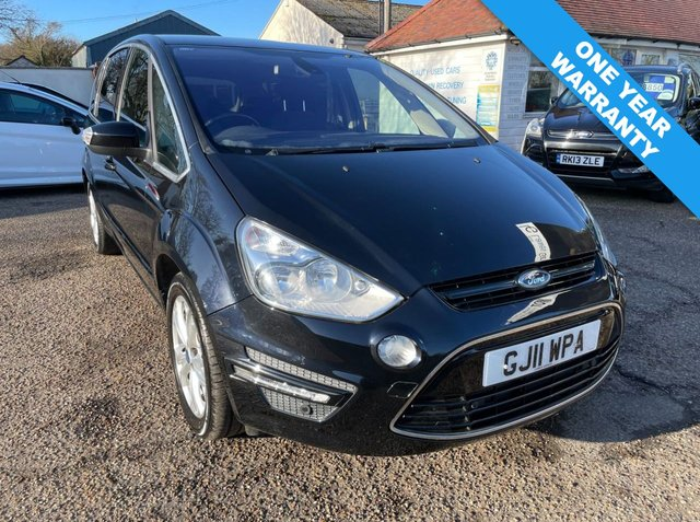 USED 2011 11 FORD S-MAX 2.0 TITANIUM TDCI 5d 138 BHP ONE YEAR WARRANTYINCLUDED / CRUISE CONTROL / VOICE COMMS / USB / BLUETOOTH