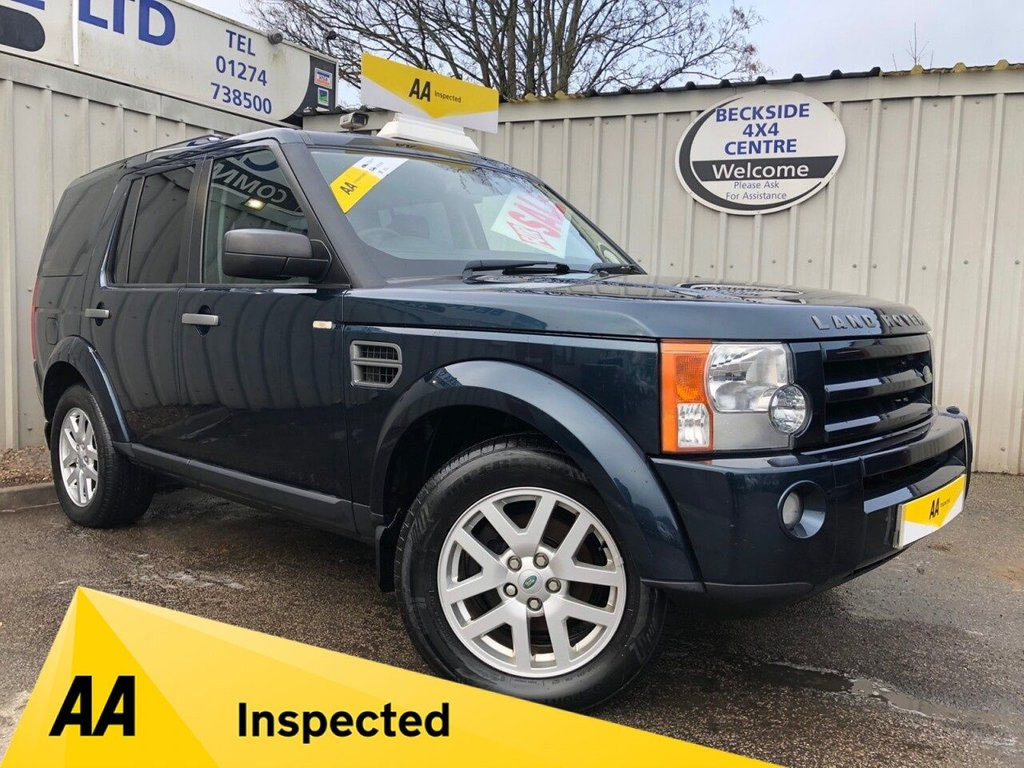 USED 2009 09 LAND ROVER DISCOVERY 3 2.7 3 TDV6 GS 5d 188 BHP AA INSPECTED. FINANCE. WARRANTY. 7 SEATER. MANUAL. HIGH SPEC