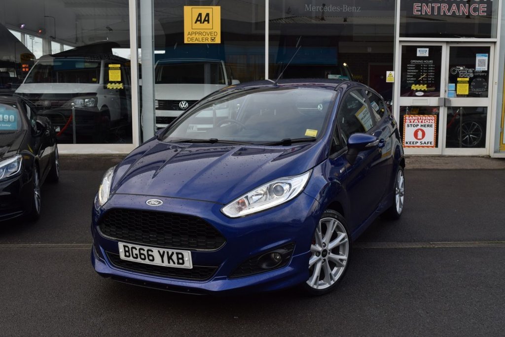 USED 2016 66 FORD FIESTA 1.0 EcoBoost 140 ST-Line 3dr FINANCE TODAY WITH NO DEPOSIT - SERVICE HISTORY