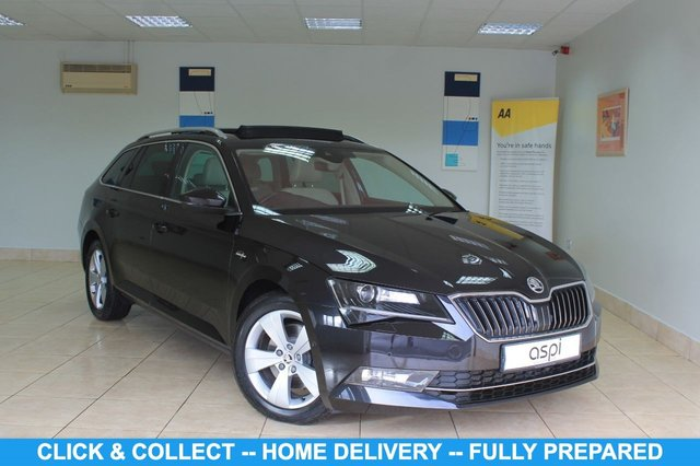 """USED 2016 16 SKODA SUPERB 2.0 LAURIN AND KLEMENT TDI DSG 5d 188 BHP EMOTION ONYX LEATHER, SAT NAV, CLIMATE CONTROL, ELEC GLASS PAN ROOF TILT/SLIDE, BLUETOOTH, ROOF RAILS, FRONT & REAR PARKING SENSORS, 17"""" ALLOY WHEELS, ELECTRIC FRONT SEATS - DRIVERS WITH MEMORY, LUMBAR SUPPORT, MULTI FUNCTION STEERING WHEEL, PADDLE SHIFT, ELEC TAILGATE, AIR CONDITIONING GLOVEBOX, 2 x SD CARD SLOTS, ELEC FOLDING MIRRORS, HEATED FRONT & REAR SEATS,"""