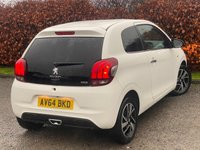 USED 2014 64 PEUGEOT 108 1.2 FELINE 3d 82 BHP * 2 OWNERS FROM NEW * LOW MILEAGE CAR * 12 MOMTHS FREE AA MEMBERSHIP *