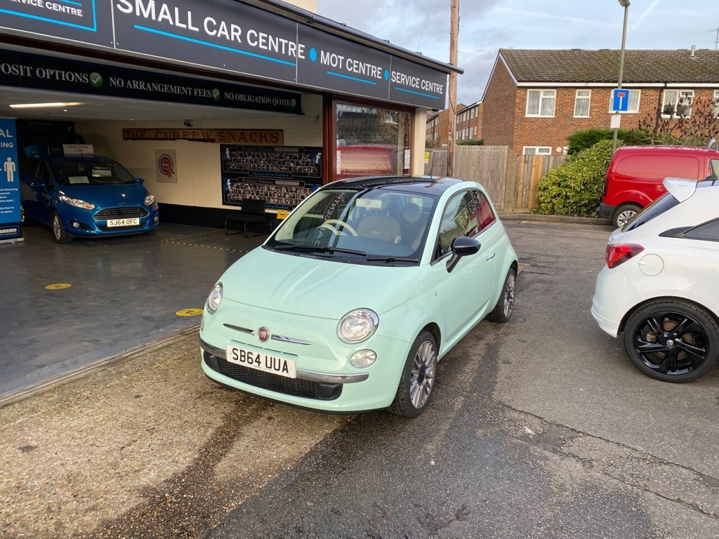 USED 2014 64 FIAT 500 1.2 CULT 3d 69 BHP PANROOF - LEATHER - BLUETOOTH - USB - AIRCON - PARKING SENSORS