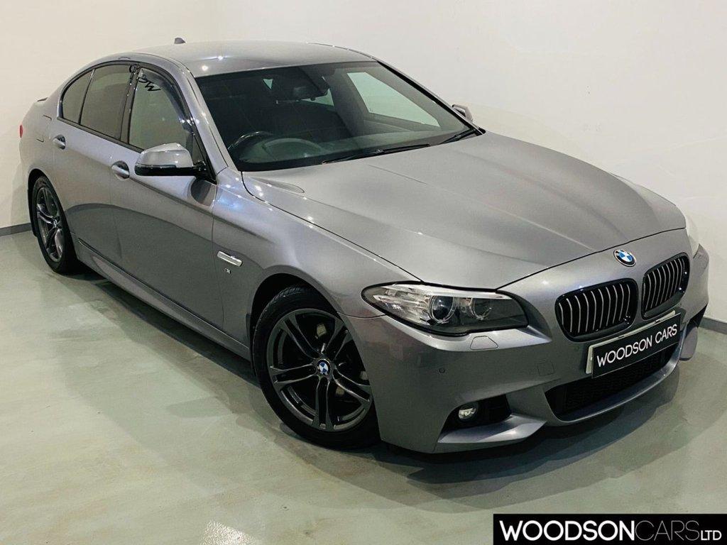 USED 2014 63 BMW 5 SERIES 2.0 520D M SPORT 4d 181 BHP Sat Nav / Heated Leather / DAB Radio / Bluetooth / USB / Aux