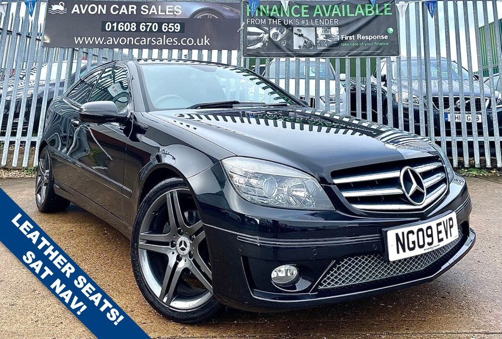 USED 2009 09 MERCEDES-BENZ CLC CLASS 1.8 CLC180 KOMPRESSOR SPORT 3d 143 BHP AUTOMATIC! LEATHER! SAT NAV! PARKING SENSORS!