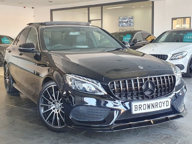 USED 2017 67 MERCEDES-BENZ C-CLASS 2.1 C 220 D AMG LINE PREMIUM 4d 170 BHP BRM BODY STYLING+PAN ROOF