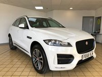 USED 2018 68 JAGUAR F-PACE 2.0 R-SPORT 5d 5 Seat Family Sports SUV 4x4 AUTO Absolutely Immaculate and Stunning in White with Black Pack Panoramic Glass Roof Black Heated Leather Memory Seats plus Massive High Spec for an R-Sport Spec plus Jaguar Service History and Jaguar Warranty until Set 2021. 2 New Tyres. Now Ready to Finance and Drive Away Today More spec than you'll know what to do with...