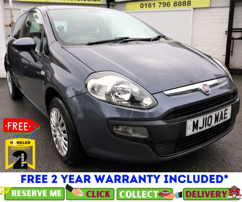 USED 2010 10 FIAT PUNTO EVO 1.4 ACTIVE 3d 77 BHP *CLICK & COLLECT OR DELIVERY