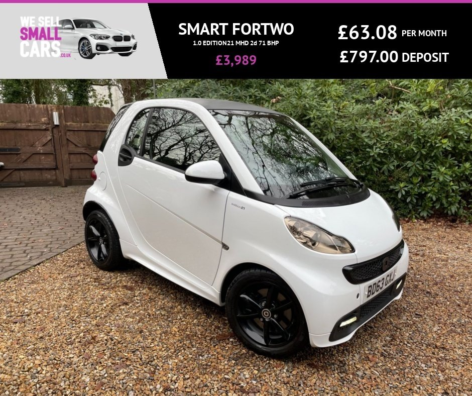 USED 2013 63 SMART FORTWO 1.0 EDITION21 MHD 2d 71 BHP
