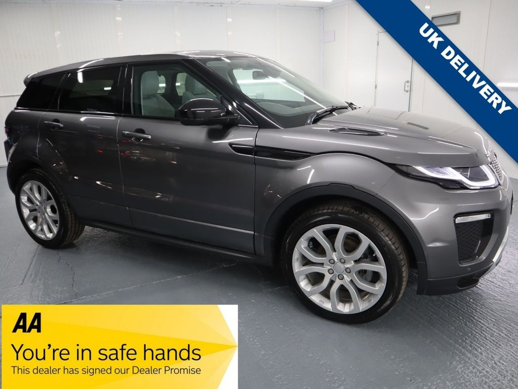USED 2016 16 LAND ROVER RANGE ROVER EVOQUE 2.0 TD4 HSE DYNAMIC 5d 177 BHP MOST POPULAR SUV. THIS BEING THE 178 BHP 4 WHEEL DRIVE MANUAL VERSION. WITH £3085 WORTH OF FACTORY EXTRAS INCLUDING FIXED PANORAMIC ROOF WITH BLINDS, POWERED TAILGATE, PRIVACY GLASS & LANE KEEPING ASSIST WITH DEPARTURE WARNING AMONGST OTHERS.