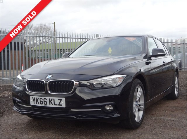 USED 2016 66 BMW 3 SERIES 2.0 318D SPORT 4d 148 BHP 3 SERVICE STAMPS