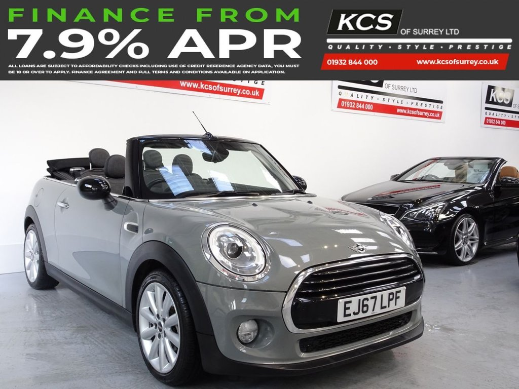 USED 2017 67 MINI CONVERTIBLE 1.5 COOPER 2d 134 BHP CHILI PACK - MEDIA XL SAT NAV