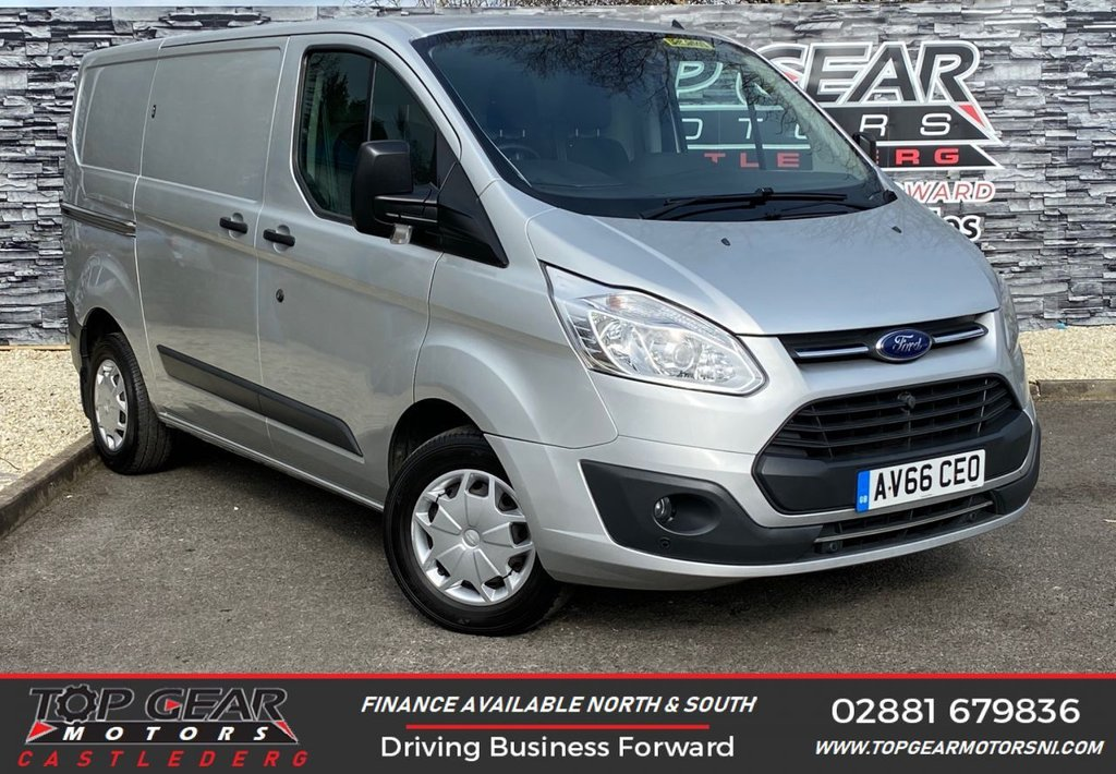 USED 2017 66 FORD TRANSIT CUSTOM 290 2.0 130BHP TREND L1 H1 TWIN SLIDING DOORS ** TWIN SIDE LOADING DOORS, AIR CON, BLUETOOTH **