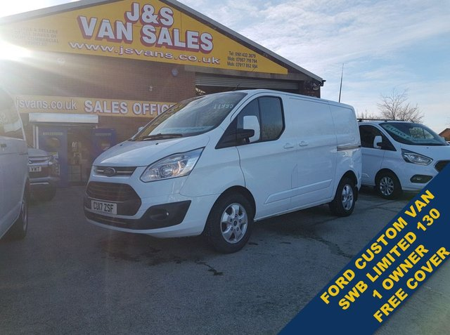 USED 2017 17 FORD TRANSIT CUSTOM 2.0 290 LIMITED LR P/V 129 BHP EURO 6 1 OWNER BIG STOCK EURO 6 OVER VANS OVER 100 ON SITE