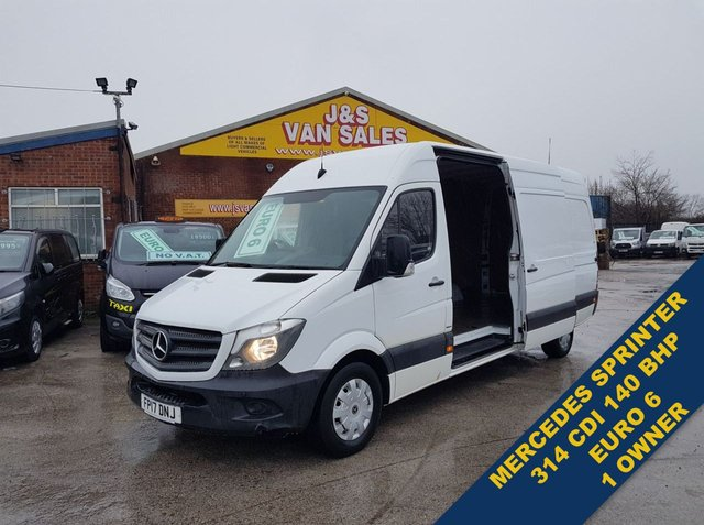 USED 2017 17 MERCEDES-BENZ SPRINTER 2.1 314CDI 140 BHP L.W.B EURO 6 1 OWNER  LOTS MORE ON SITE ALL MODELS BIG OR SMALL