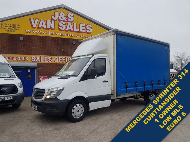 USED 2017 17 MERCEDES-BENZ SPRINTER CURTAIN SIDE  314CDI 140 BHP BOX EURO 6 63K MLS SPRINTER CURTAIN SIDER 314 CDI LOW MLS 63OOO