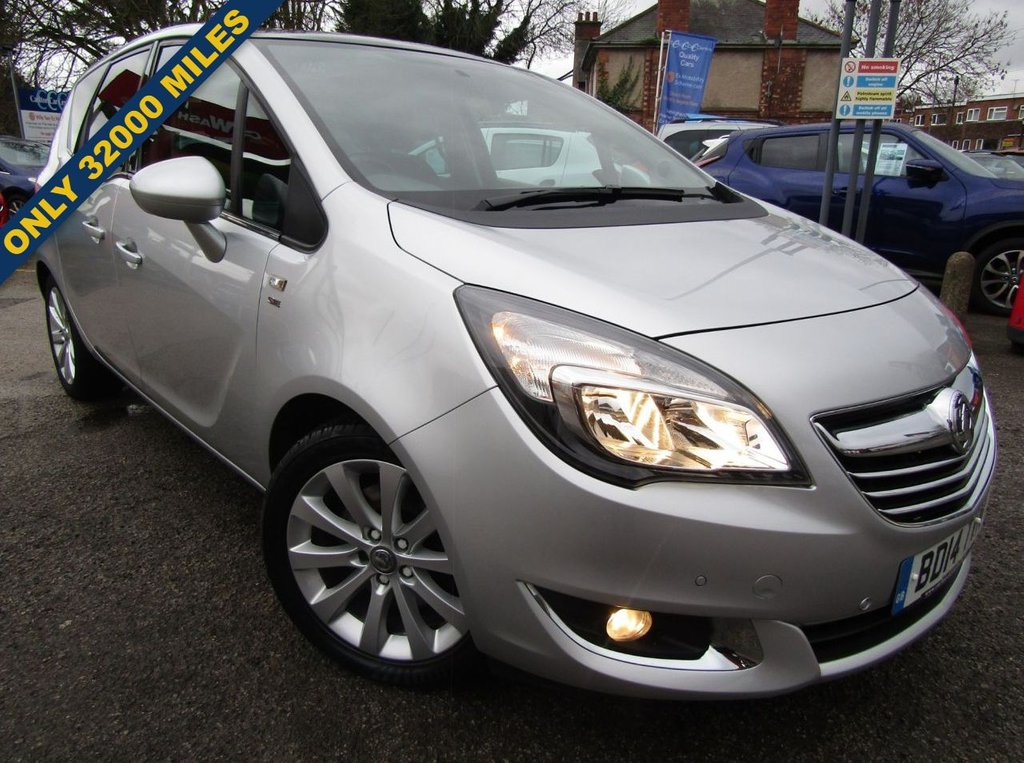 USED 2014 14 VAUXHALL MERIVA 1.4 SE 5d 138 BHP LOW MILEAGE ONLY 32000 MILES,, ONLY 2 OWNERS,,FULL SERVICE HISTORY,,GREAT SPEC CAR INCLUDING PANORAMIC SUNROOF,, FRONT AND REAR PARKING SENSORS AND MUCH MORE,,HIGHER SEATING POSITION,,GREAT CONDITION INSIDE AND OUT,, WARRANTY INCLUDED,,PART EXCHANGE WELCOME,,FINANCE AVAILABLE,,