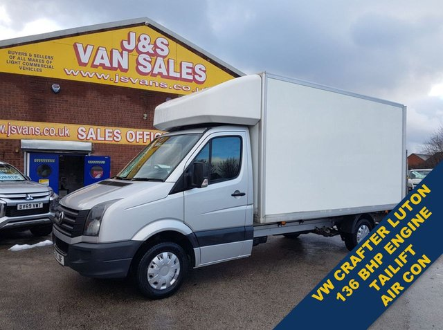 USED 2015 15 VOLKSWAGEN CRAFTER LUTON TAILIFT BIGGER 136 BHP WITH AIR CON  BIG STOCK OVER VANS OVER 100 ON SITE