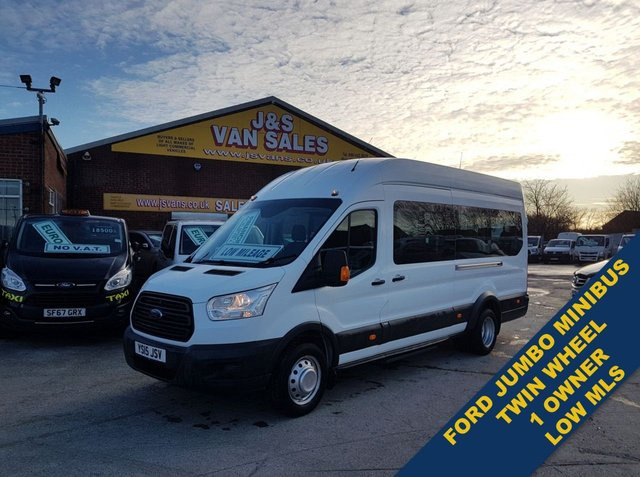 USED 2015 15 FORD TRANSIT 2.2 460 H/R BUS 17 STR 124 BHP ONLY 39OOO MLS  BIG STOCK OF MINIBUSES ALL MODELS