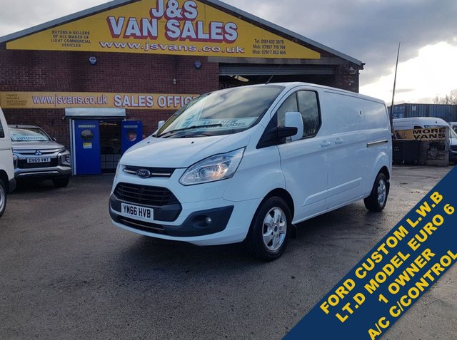 USED 2017 66 FORD TRANSIT CUSTOM 2.0 290 LIMITED VAN L.W.B EURO 6 1 OWNER A/C BIG STOCK EURO 6 OVER VANS OVER 100 ON SITE