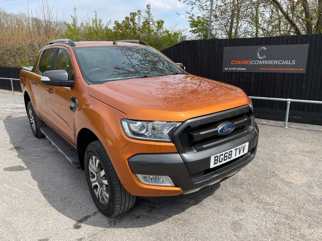USED 2018 68 FORD RANGER 3.2 TDCi Wildtrak Double Cab Pickup Auto 4WD 4dr *EURO 6*ACTIVE CRUISE CONTROL*