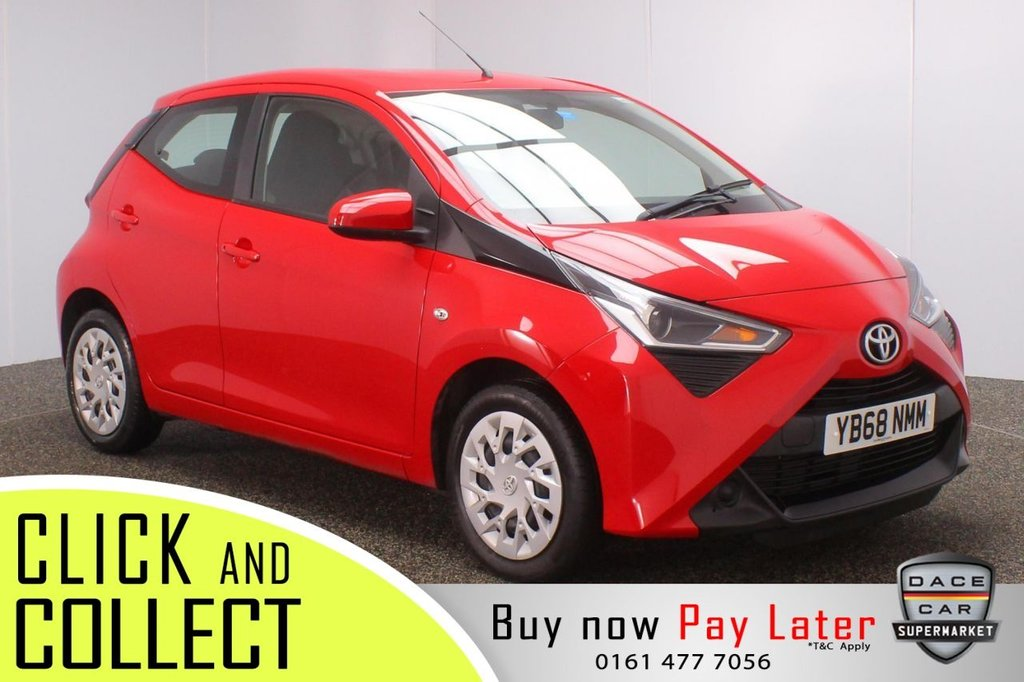USED 2019 68 TOYOTA AYGO 1.0 VVT-I X-PLAY 5DR 1 OWNER 69 BHP FULL SERVICE HISTORY + REVERSING CAMERA + BLUETOOTH + CRUISE CONTROL + MULTI FUNCTION WHEEL + AIR CONDITIONING + DAB RADIO + AUX/USB PORTS + ELECTRIC WINDOWS