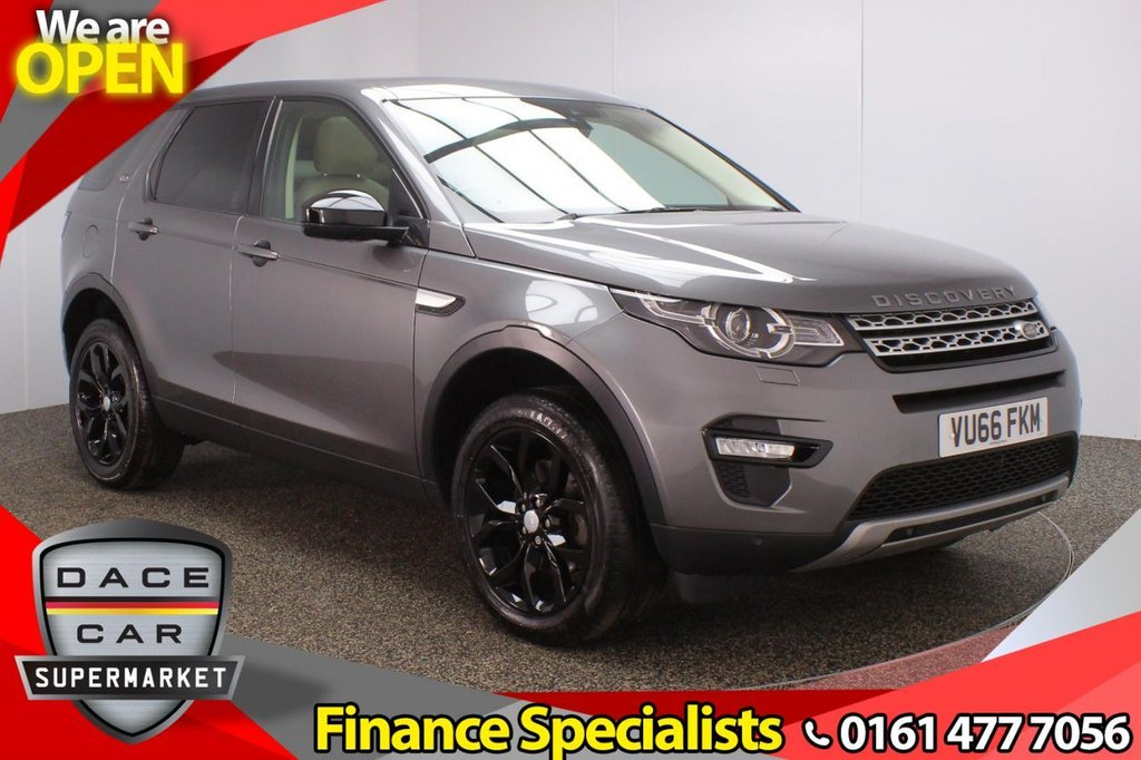 USED 2016 66 LAND ROVER DISCOVERY SPORT 2.0 TD4 HSE 5DR 7 SEATS 1 OWNER AUTO 180 BHP FULL SERVICE HISTORY + 7 SEATS + HEATED LEATHER SEATS + SATELLITE NAVIGATION  +PANORAMIC ROOF + REAR CAMERA + BLUETOOTH + CRUISE CONTROL + CLIMATE CONTROL + MULTI FUNCTION WHEEL + LANE ASSIST SYSTEM + ELECTRIC FRONT SEATS + MERIDIAN PREMIUM SPEAKERS + DAB RADIO + AUX/USB PORTS + XENON HEADLIGHTS + ELECTRIC WINDOWS + ELECTRIC/HEATED/FOLDING DOOR MIRRORS + 19 INCH ALLOY WHEELS