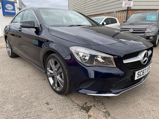 USED 2017 67 MERCEDES-BENZ CLA 1.6 CLA 180 SPORT 4d 121 BHP 1 OWNER*PART LEATHER*NAV*MERCEDES-BENZ SERVICE HISTORY