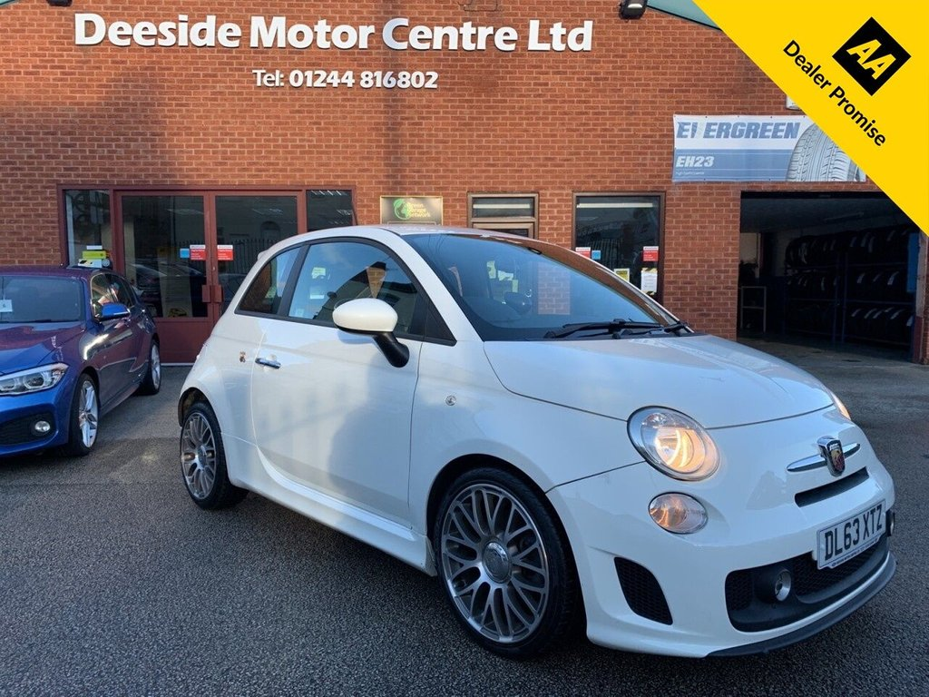USED 2014 63 ABARTH 500 1.4 ABARTH 3d 135 BHP Fully stamped service history : Blue&Me Bluetooth connectivity : Cloth upholstery : Isofix fittings : Rear parking sensors