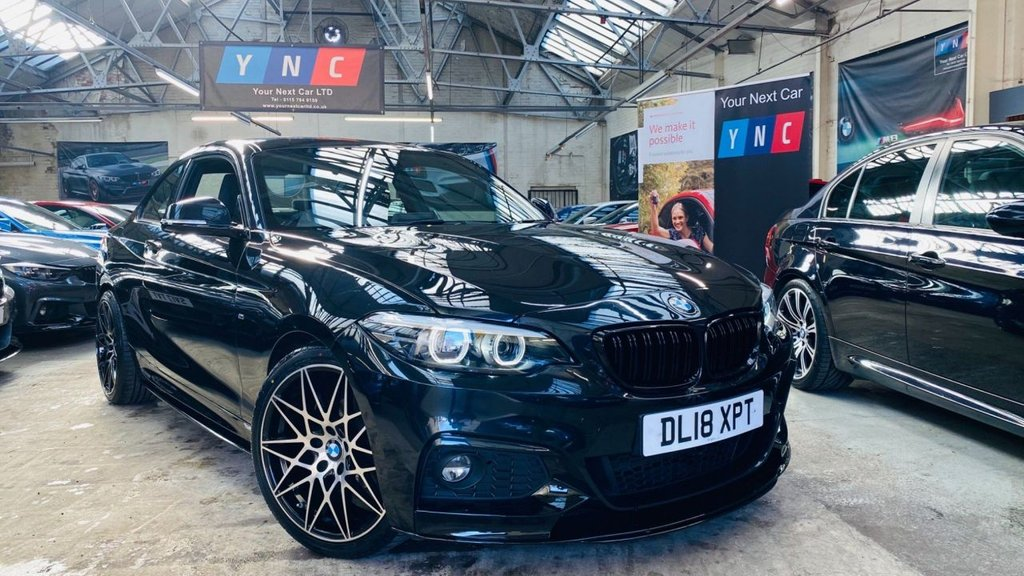 USED 2018 18 BMW 2 SERIES 2.0 218d M Sport (s/s) 2dr PERFORMANCEKIT+FACELIFT+18S