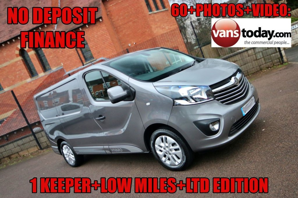 USED 2018 68 VAUXHALL VIVARO 1.6 L1H1 2700 LIMITED EDITION NAV CDTI P/V BITURBO S/S 125 BHP NO DEPOSIT FINANCE + LTD EDITION MODEL + EURO 6